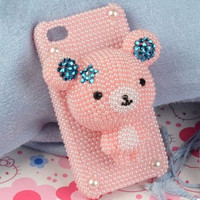 3D bear galaxy s4 Iphone case iPhone 4 Case by iphonecasestar
