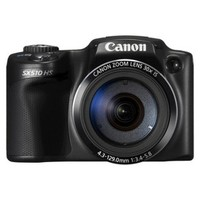 Canon PowerShot SX-510 12.1MP Digital Camera with 30x Optical Zoom - Black