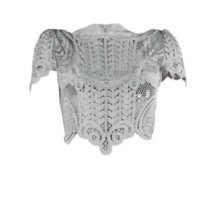 Fashion Lace Baroque Crop Top
