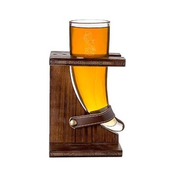 Personalized 16 oz. Viking Knot Rustic Beer Horn