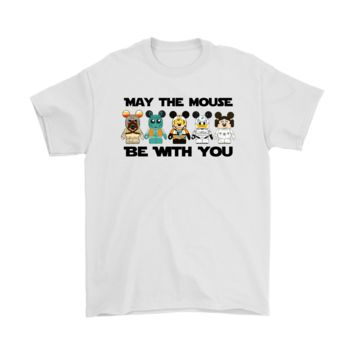 PEAP3CR Star Wars May The Mouse Be With You Disney Mashup Shirt