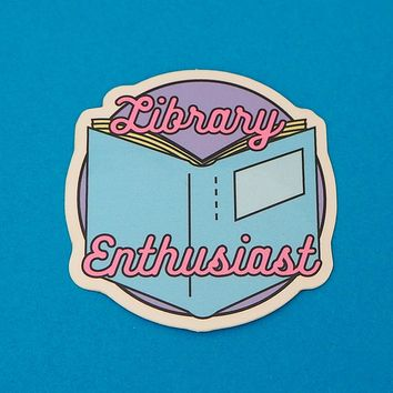 Library Enthusiast Vinyl Sticker