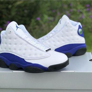 DCCK Nike Air Jordan 13 Retro AJ13 White/Royal Blue Sneaker Shoes US5.5-13