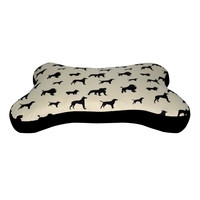 Tan Dog Bone Pet Bed