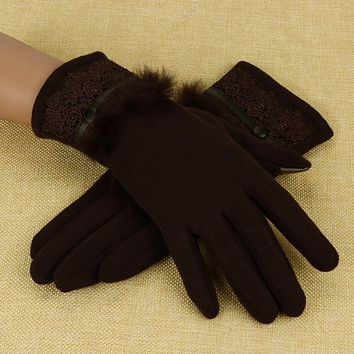 Winter Women Cashmere Gloves