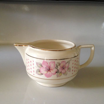 Vintage Creamer Homer Laughlin Piccadilly Mary Anne Pattern P539 Replacement  Pitcher 1940s