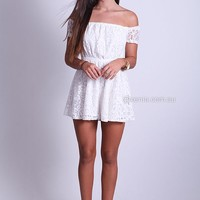 OFF THE SHOULDER 2.0 PLAYSUIT , DRESSES,,Minis,Playsuit Australia, Queensland, Brisbane