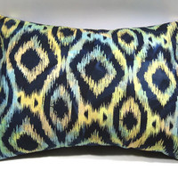 Ikat Pillow Cover for 12 x 16 pillow form; Accent pillow/decorative pillow cover with envelope closure - Pillow form INCLUDED