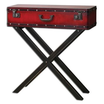 Taggart Red Console Table By Uttermost