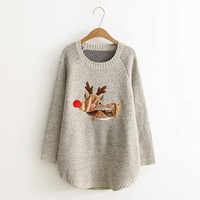 Fashion Christmas deer Pattern Sweater