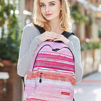 Pink Dip Dye Padded Straps And Back Backpack