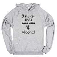 Good Kush & Alcohol-Unisex Heather Grey Hoodie