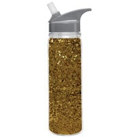 18 oz. Gold Glitter Water Bottle