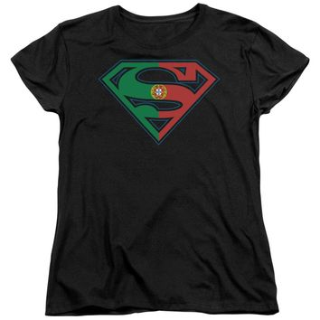 Superman - Portugal Shield Short Sleeve Women's Tee