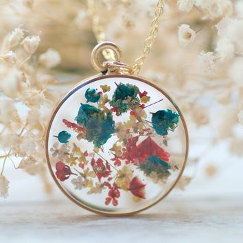 Confetti Real Flower Necklace