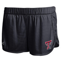 Texas Tech Red Raiders Under Armour Women's Performance Mesh Shorts – Black