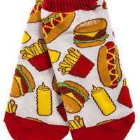MKL Accessories Socks Junk Food in White