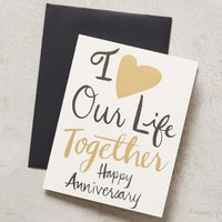 9th Letter Press Love Our Life Card in Black Size: One Size Books