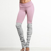Candy Color Goddess Ribbed Leggings High Waist Skinny Yoga Pants