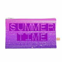 "Alison Coxon ""Summer Time"" Pink Typography Everything Bag"