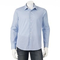 Apt. 9(r) Slim-Fit Patterned Woven Casual Button-Down Shirt