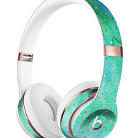 Green and Gold Watercolor Polka Dots Full-Body Skin Kit for the Beats by Dre Solo 3 Wireless Headphones