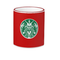 Red Cup Baphomet coffee mug
