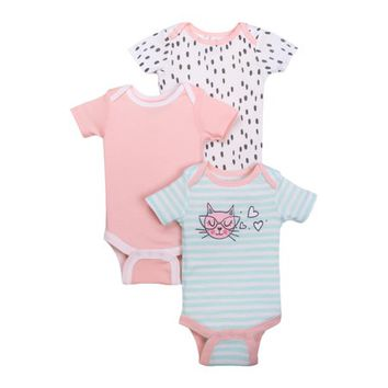 Newborn Baby Girl Assorted Short Sleeve Bodysuit, 3-pack - Walmart.com