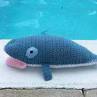 Blue Whale - Plush Toy - Hand-Crocheted - Soft & Cuddly