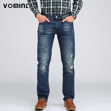 New Men's Casual Elasticity Jeans Slim Regular Fit Nice Cutting Perfect Distressed pants