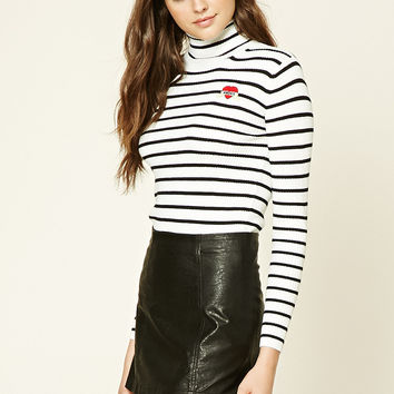 Striped Amore Patch Sweater