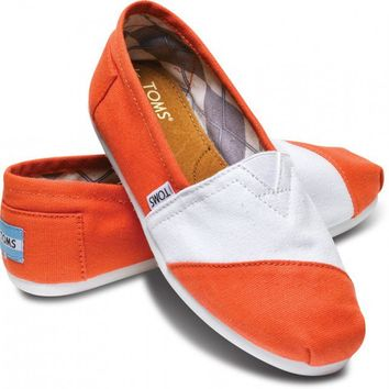 White and Orange Women's Classics | TOMS.com
