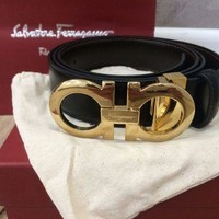DCCKHI2 Salvatore Ferragamo reversible adjustable belt