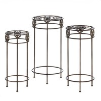 Lone Star And Lucky Horseshoe Plant Stand Trio