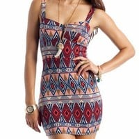 tribal print body con dress | GoJane.com
