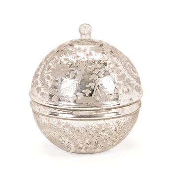 Go Home Vintage Silver Covered Sphere - 11596