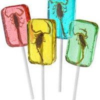 Scorpion Suckers: Lollipops with a real stinging arachnid inside.