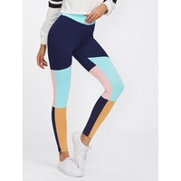 Multicolor Sporty Regular Legging