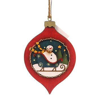 Holiday Ornaments WOOD ORNAMENTS Wood Package Holiday 144259 W