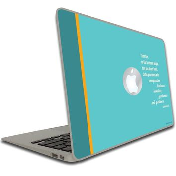 Colossians 3:12 Bible Verse Macbook Air or Macbook Pro Skin
