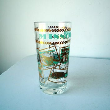 Midcentury MISSOURI Souvenir Glass, MISSOURI Souvenir Glass, SALE