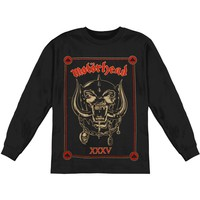 Motorhead Men's  Anniversary (Propaganda)  Long Sleeve Black Rockabilia