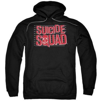 ac spbest Suicide Squad - Lineup Logo Adult Pull Over Hoodie