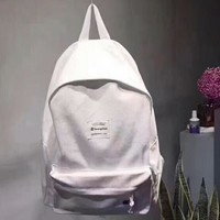 Champion New fashion letter print travel high capacity couple bag backpack White