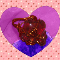 Valentine Heart Ring Red Wrapped direct Checkout Woman Valentine Jewelry