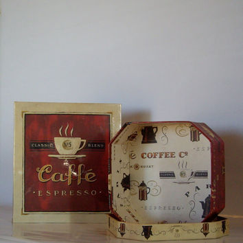 Five dollar Special Until 7/25 Midnight Vintage coffee photo album and decorator storage box 1992 cij special