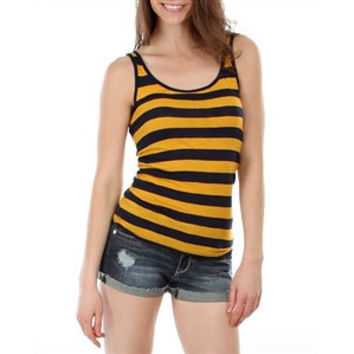 Stripe Scoop Neck Tank Tops