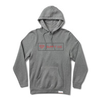 Boxed In Pullover Hood in Heather Grey
