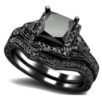 Romantic 10mm Tin Alloy Engagement Bridal Sets For Women Jr158