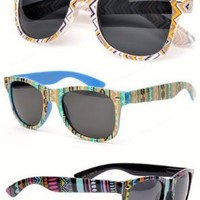 Aztec Wayfarer Sunglasses Santa Fe Indian:Amazon:Clothing
